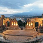 The Greek Theatre by night