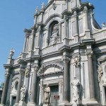 The baroque facade of the Cathedral
