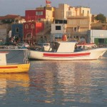The old harbour of Lampedusa