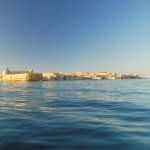 View of Ortygia from the sea
