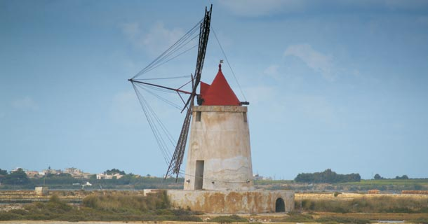 Windmill in Western Sicily