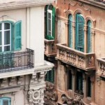 Windows and balconies in Messina