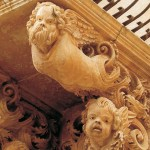 Baroque balcony's detail